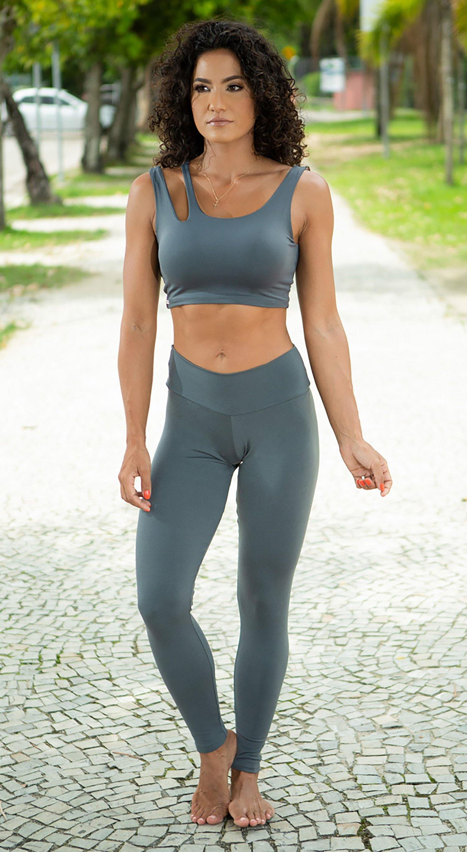 Brazilian Workout Legging - Massey Grey