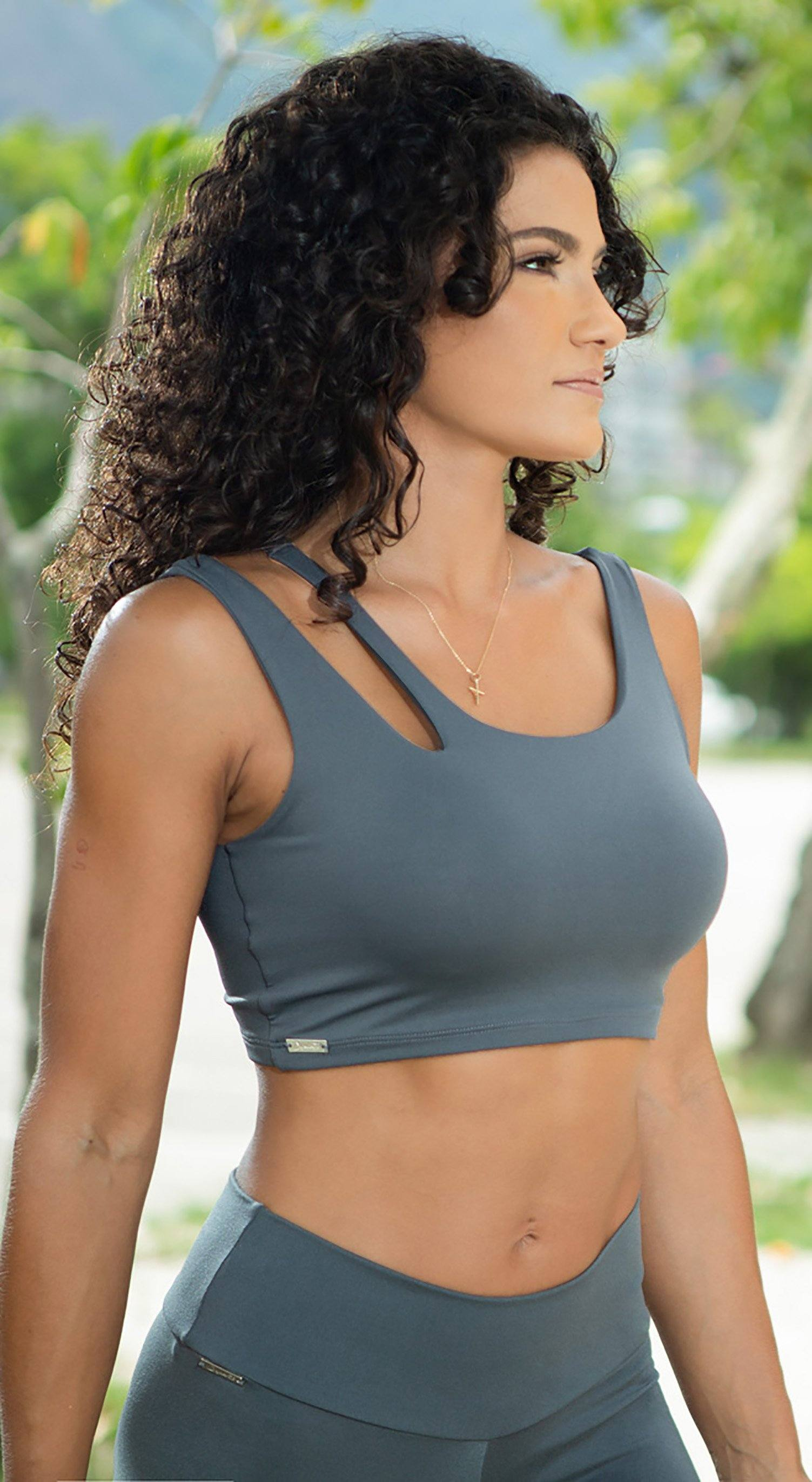 Brazilian Workout Top - Freedom Grey