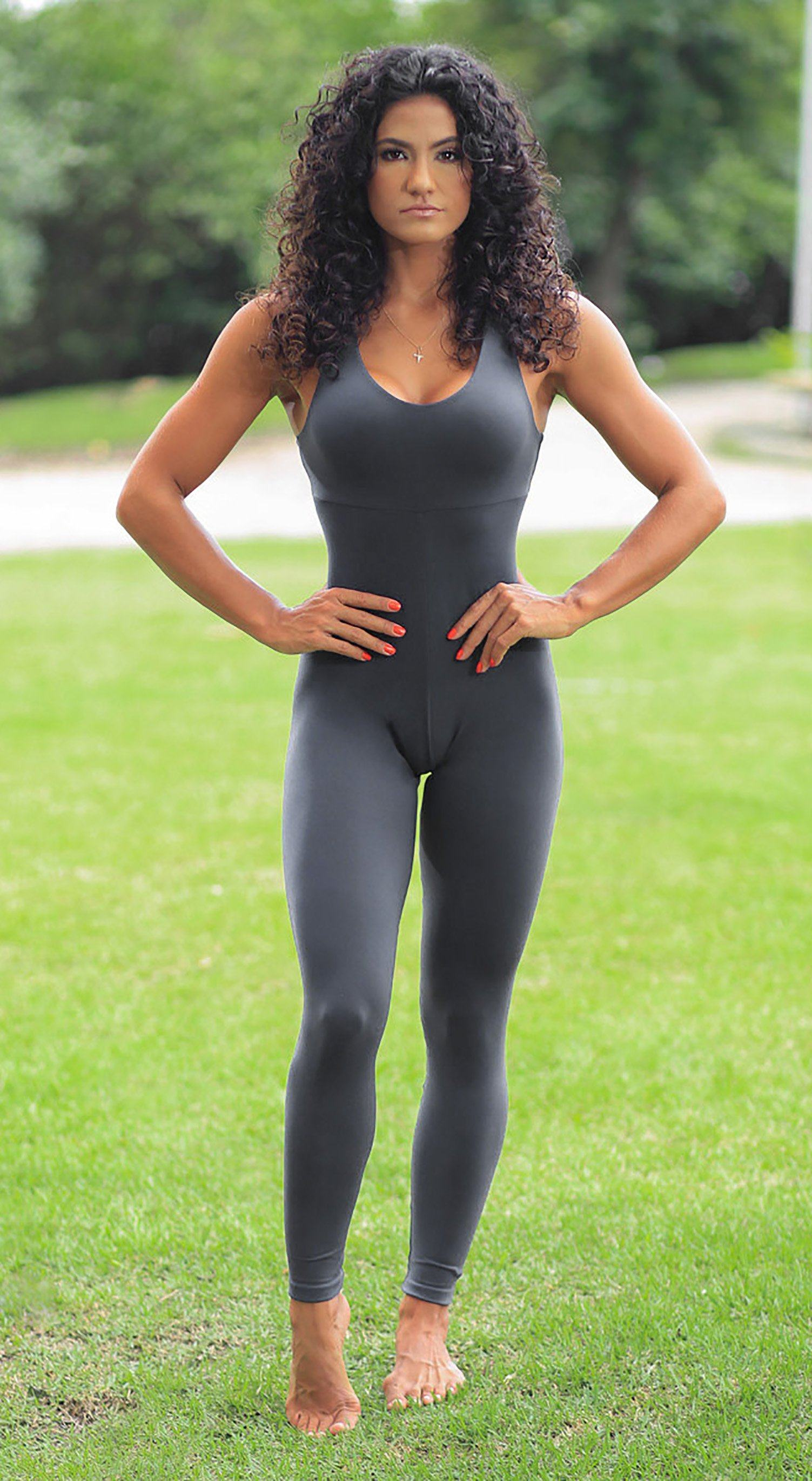 Brazilian Fitness Jumpsuit Wittney Grey
