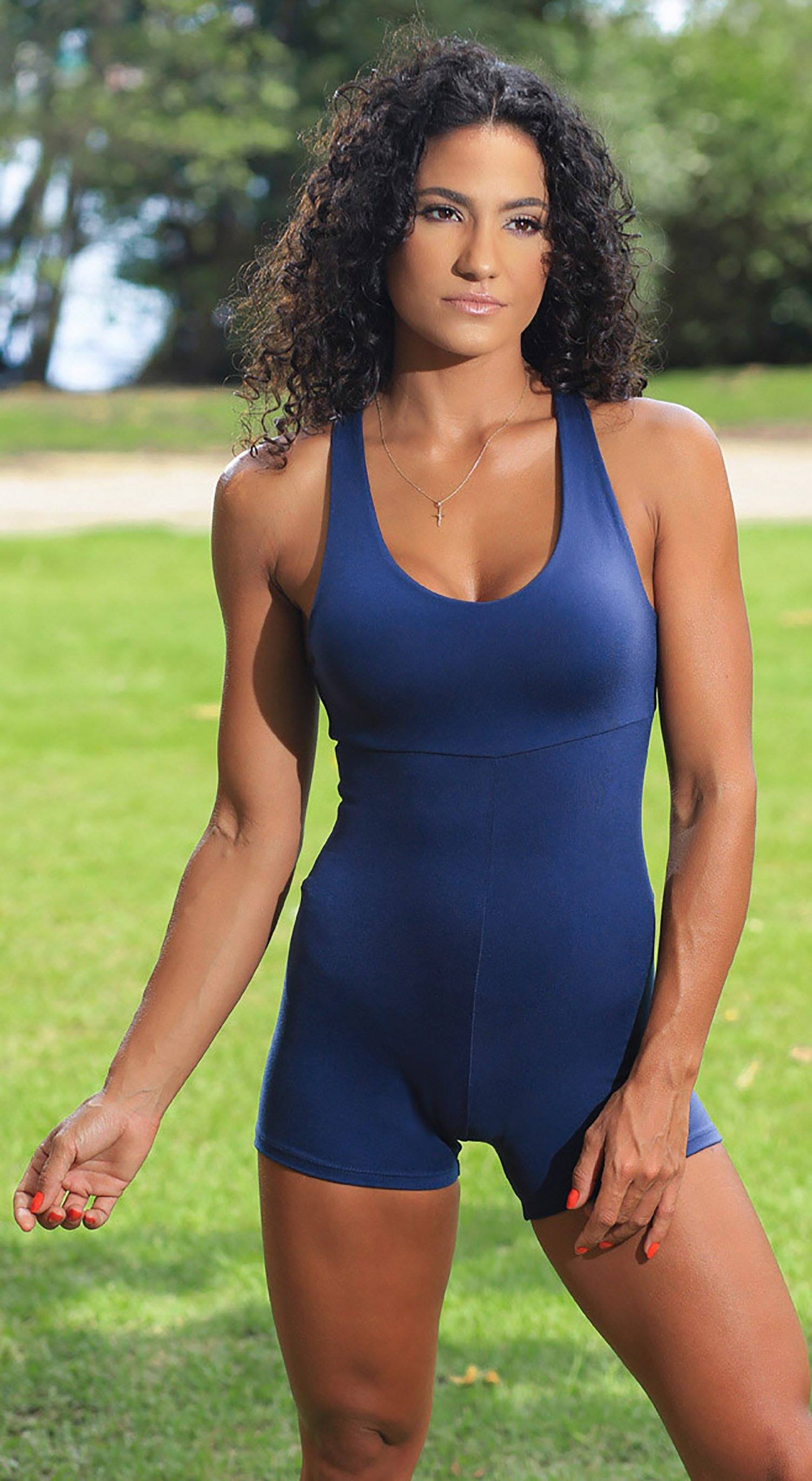 Brazilian workout Jumpsuit  - Anezi Navy