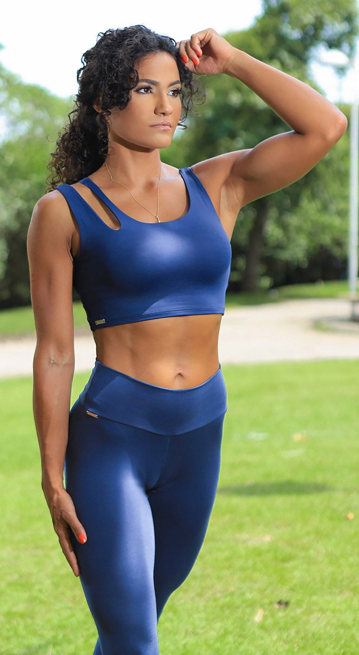 Brazilian Workout Top - Freedom Navy