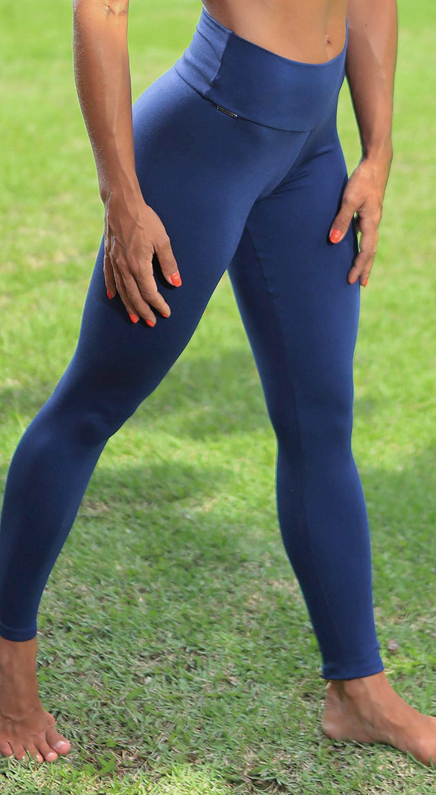 Brazilian Workout Legging - Massey Navy