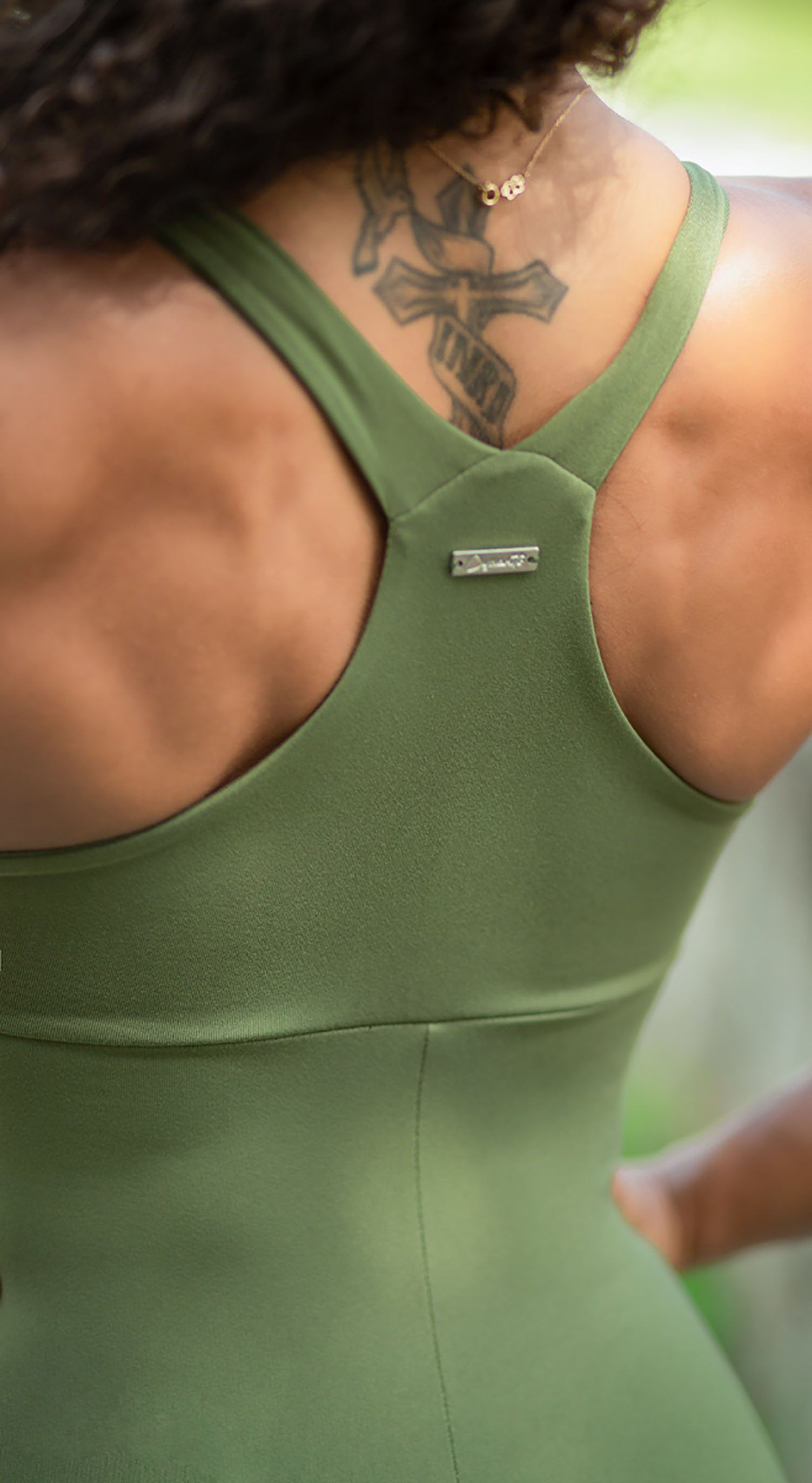 Brazilian workout Jumpsuit  - Anezi Green