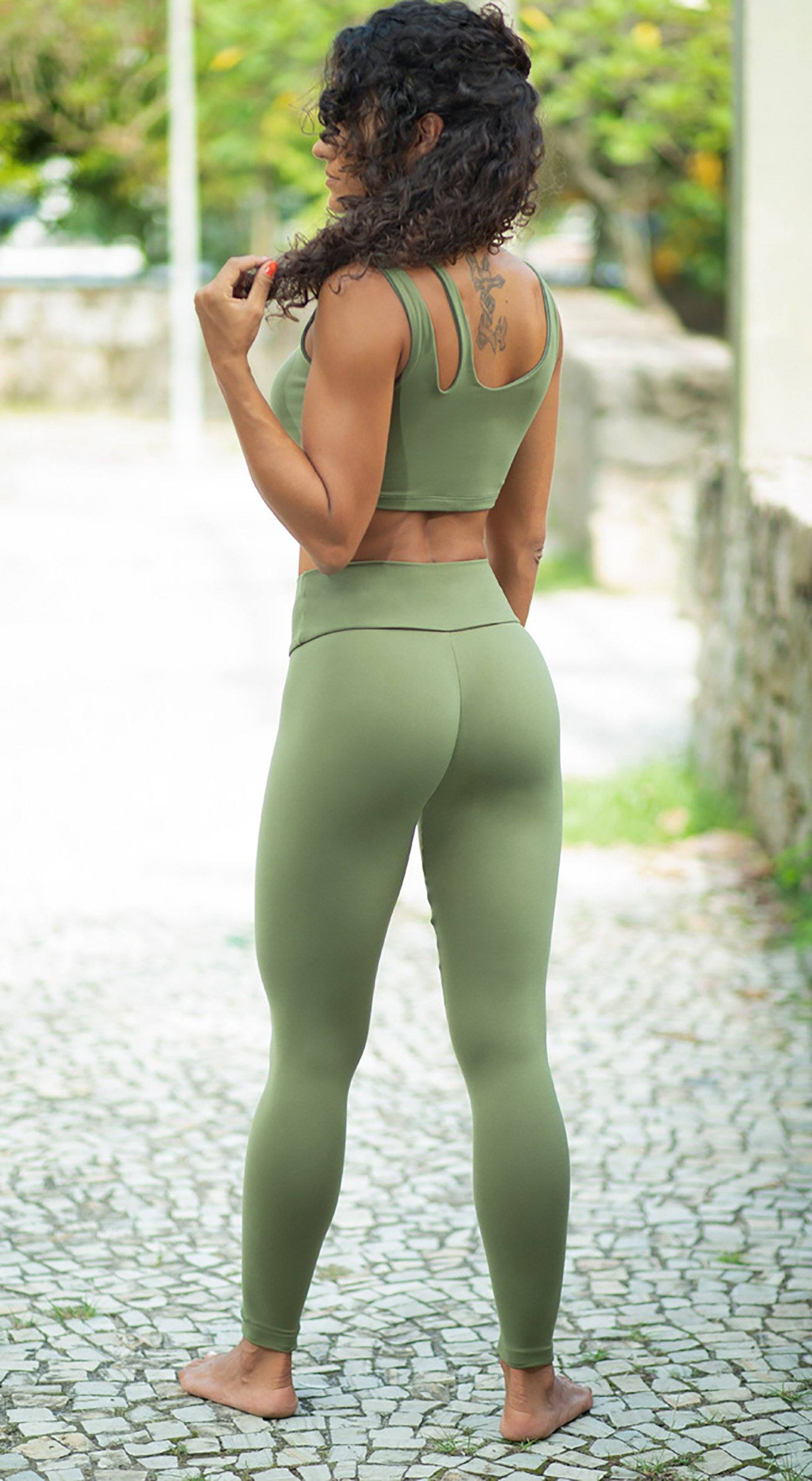 Brazilian Workout Legging - Massey Green
