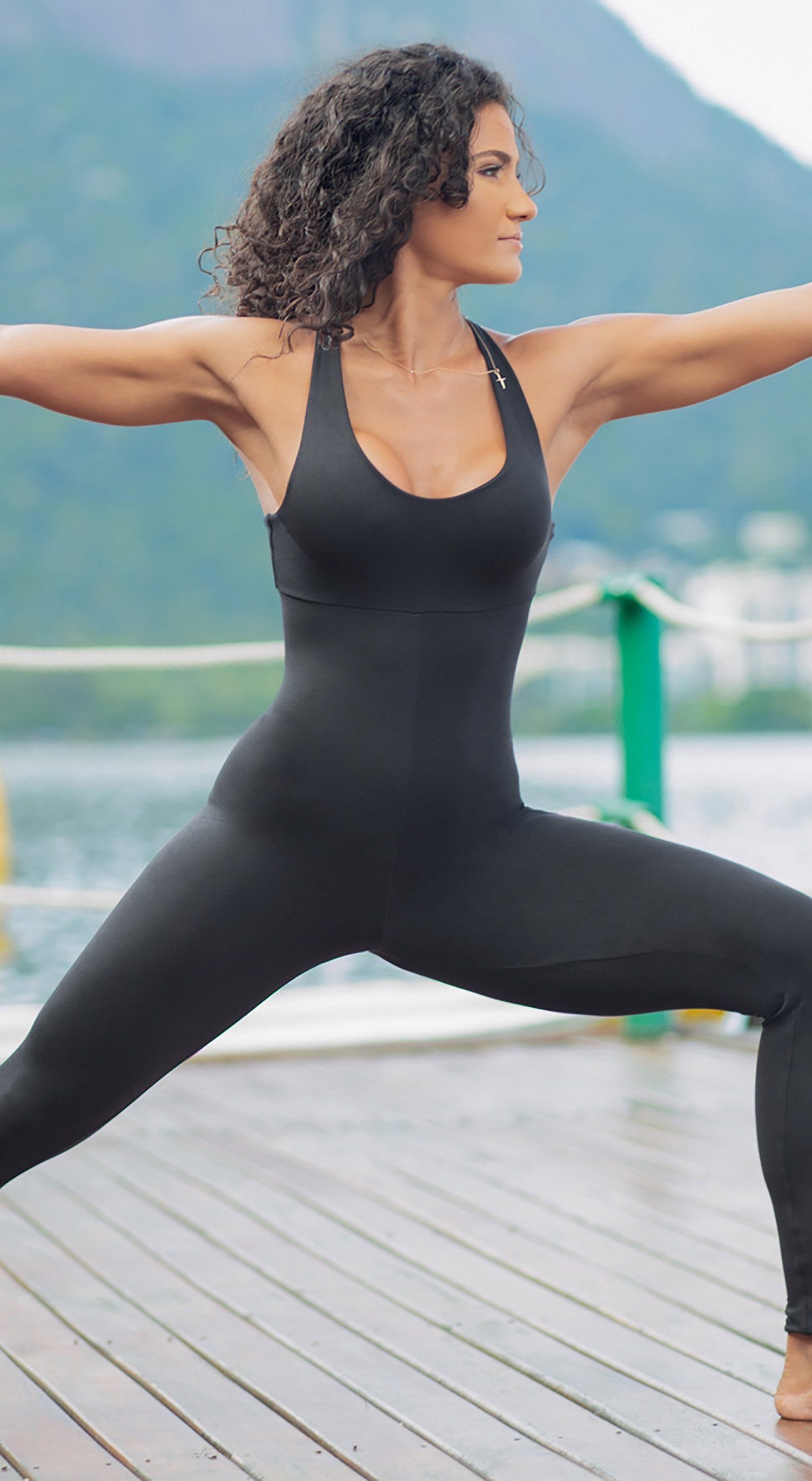 Brazilian Fitness Jumpsuit Wittney Black