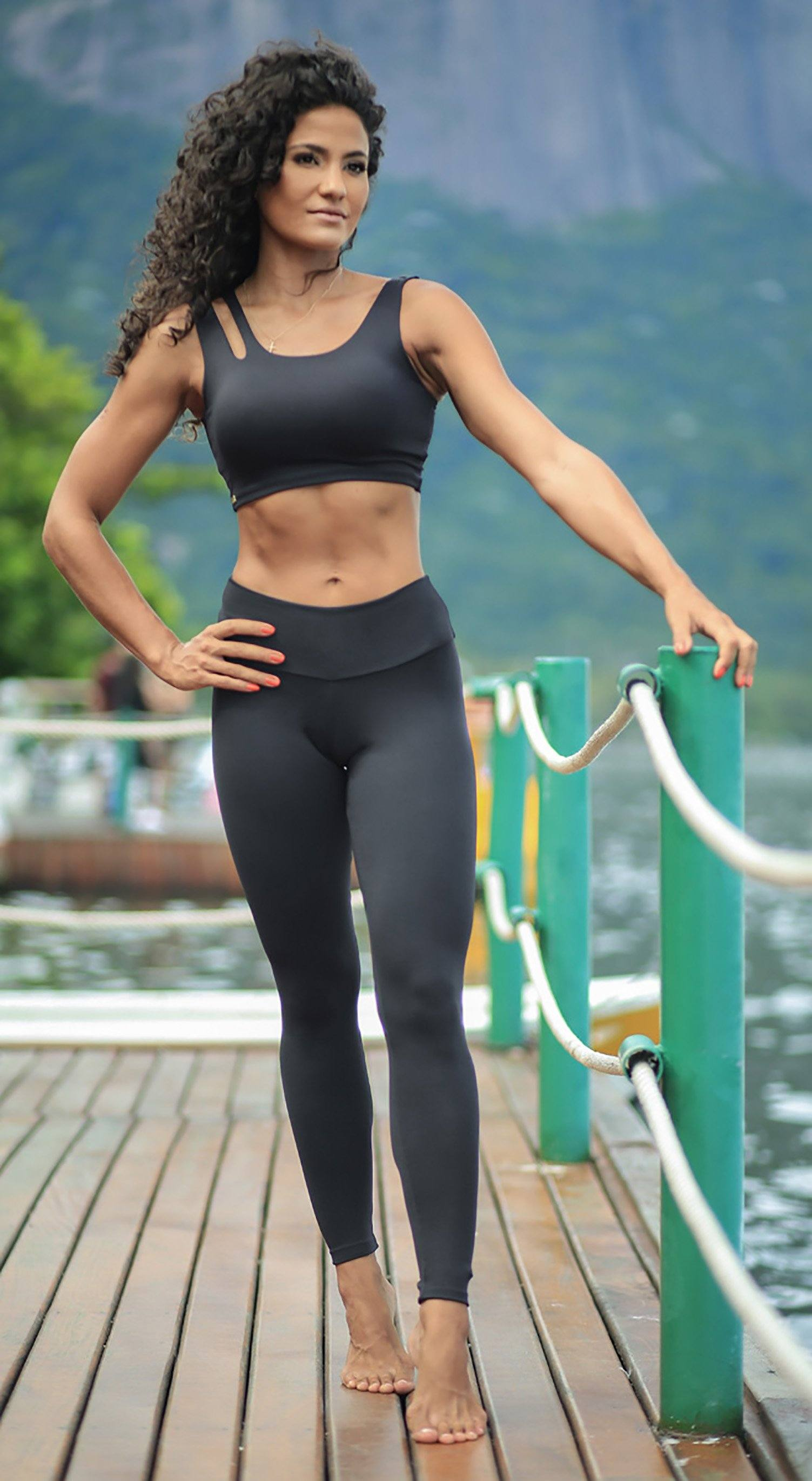 Brazilian Workout Legging - Massey Black
