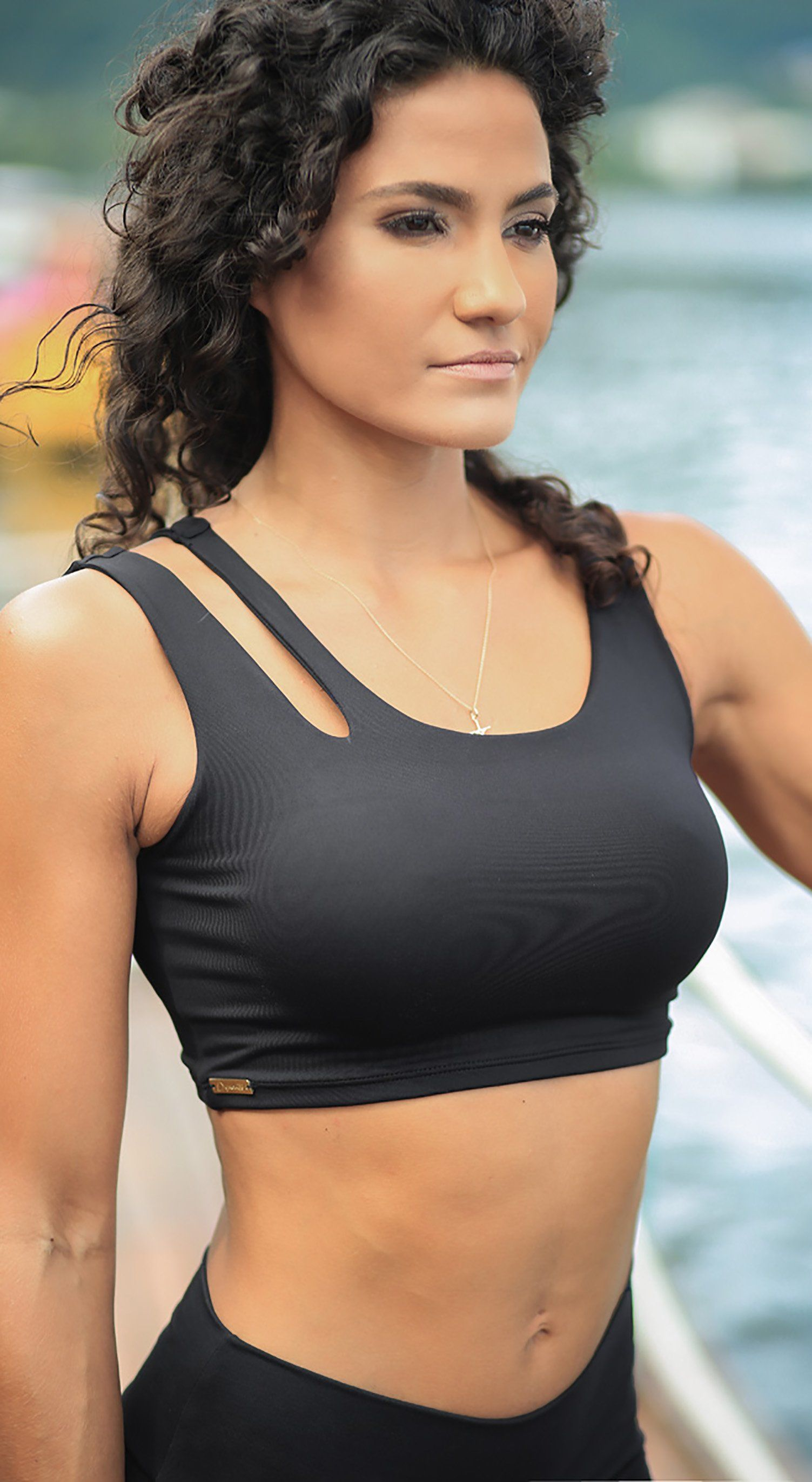 Brazilian Workout Top - Freedom Black