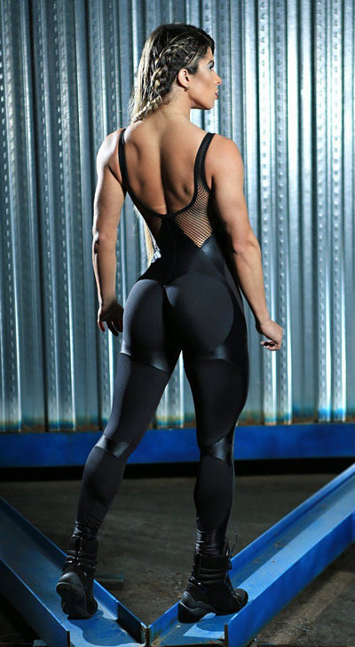 Brazilian Workout Jumpsuit  - Apple Booty Fitness Jumpsuit