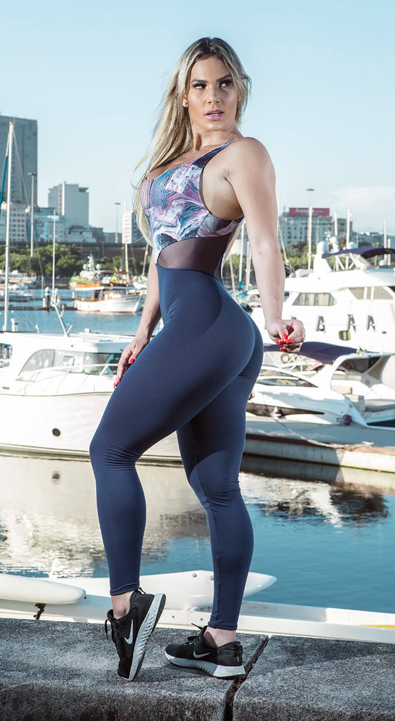 Brazilian Fitness Jumpsuit  - Bellatrix Blue