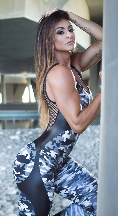 Brazilian Workout Jumpsuit  - Camo Apple Booty