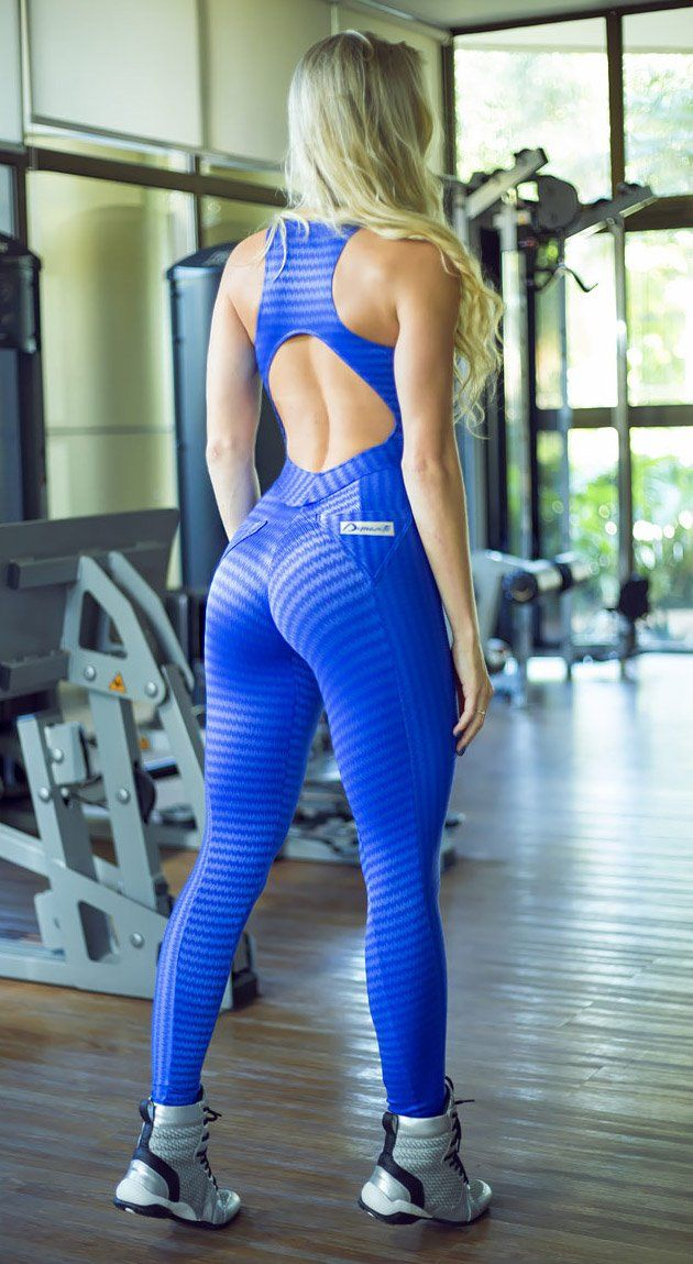 Brazilian Fitness Jumpsuit  -  Blue Comet Catsuit