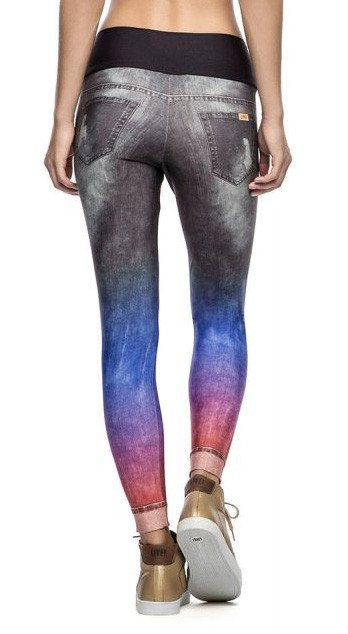 Brazilian Jegging - Rainbow Jeans Black