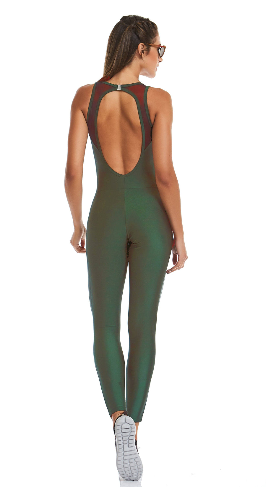 Brazilian Workout Jumpsuit - Purpose Dark Green