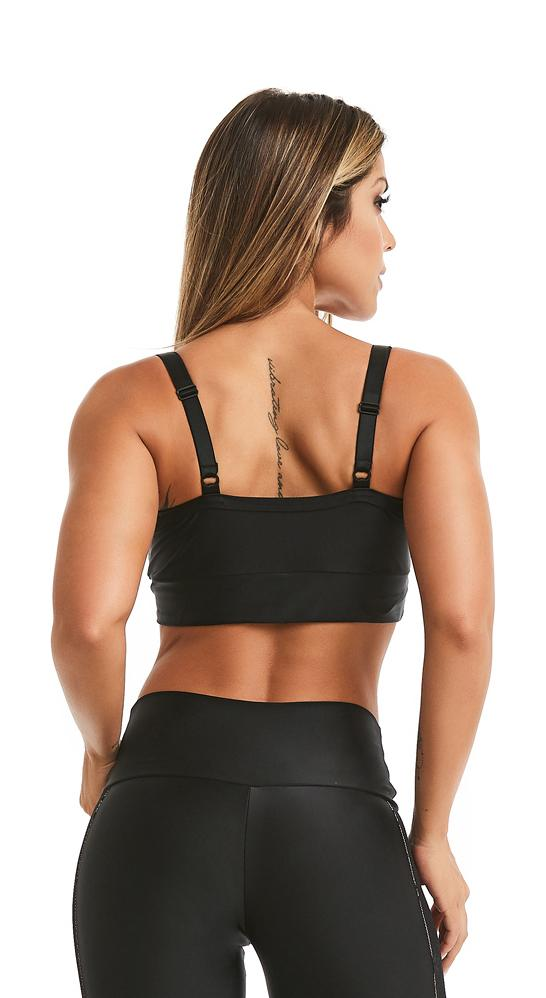 Sports Bra - Top Encourage Black