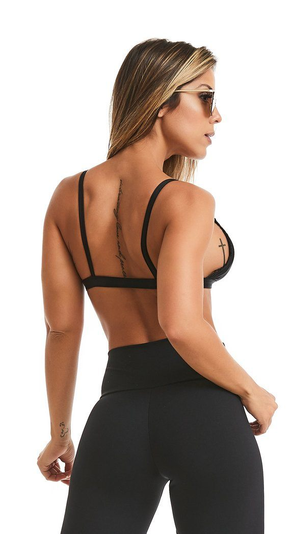 Sports Bra - Top Delicate Black