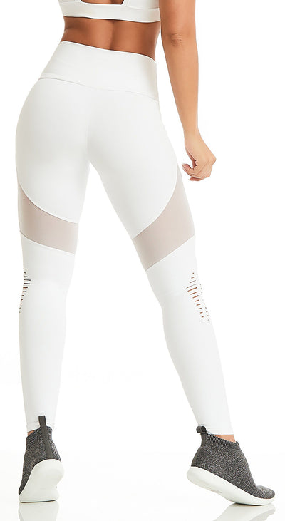 Brazilian Legging - NZ Powerful White
