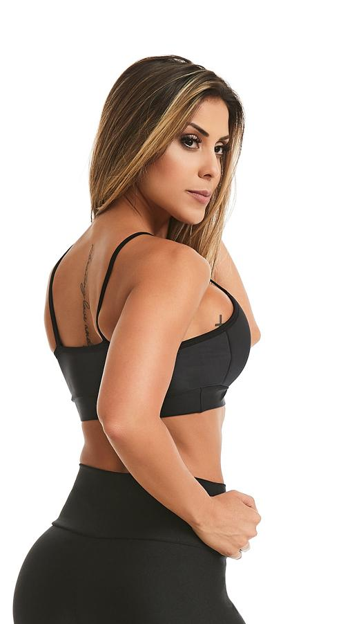 Sports Bra - Handmade Black