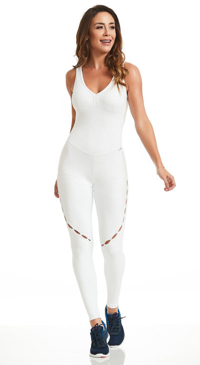 Brazilian Workout Jumpsuit - NZ Intense White