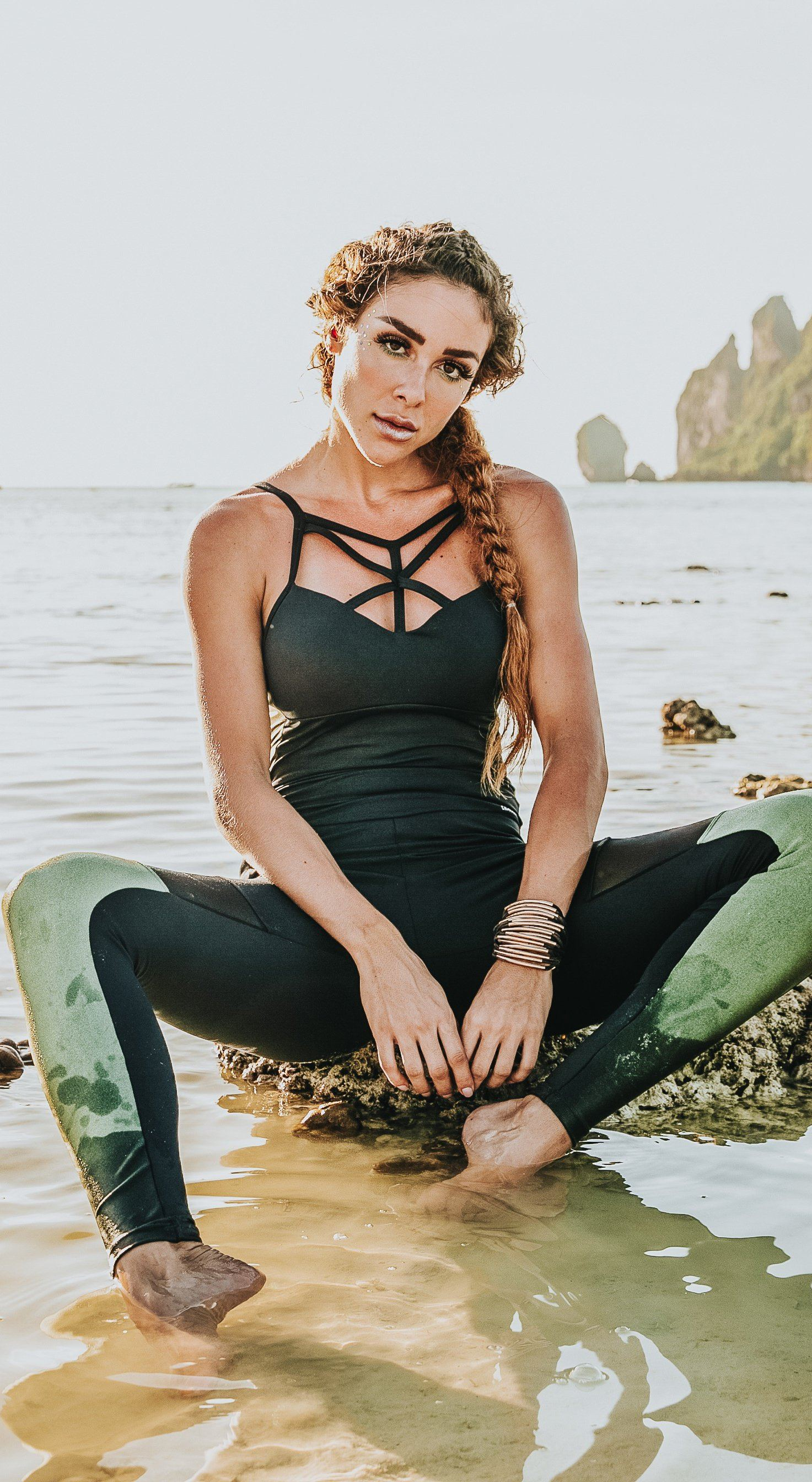Brazilian Fitness Jumpsuit - NZ Straps Bra Black