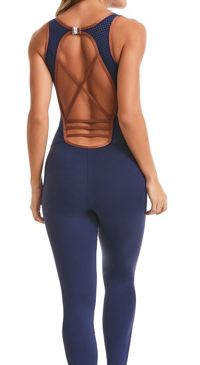 Brazilian Workout Jumpsuit - Emana Performance Navy
