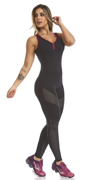 Brazilian Workout Jumpsuit - Emana Performance Black