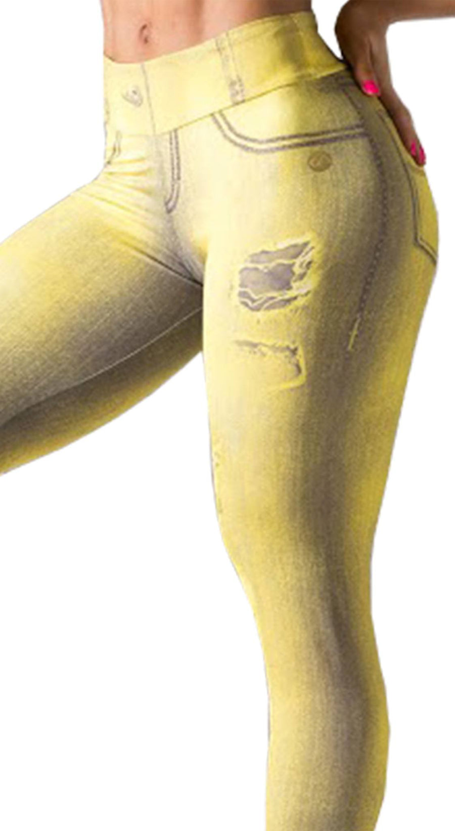 Brazilian Jegging - Curvy Fit Yellow