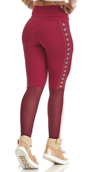 Brazilian Workout Legging - NZ Energetic Dark Red