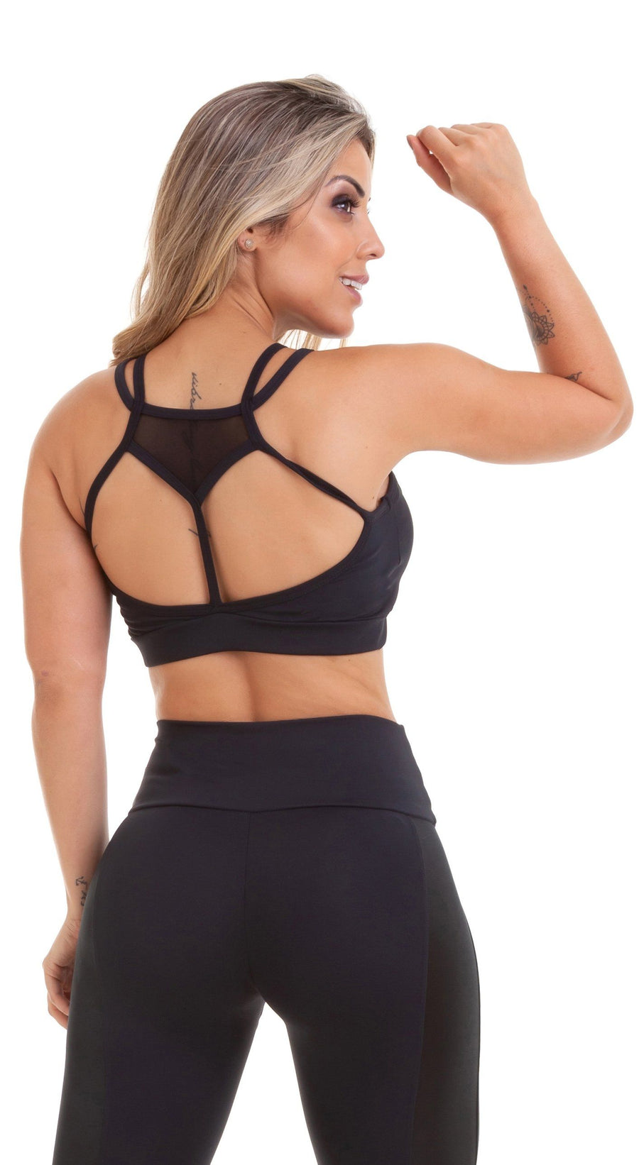 Sports Bra - NZ Cropped Top Wish Black