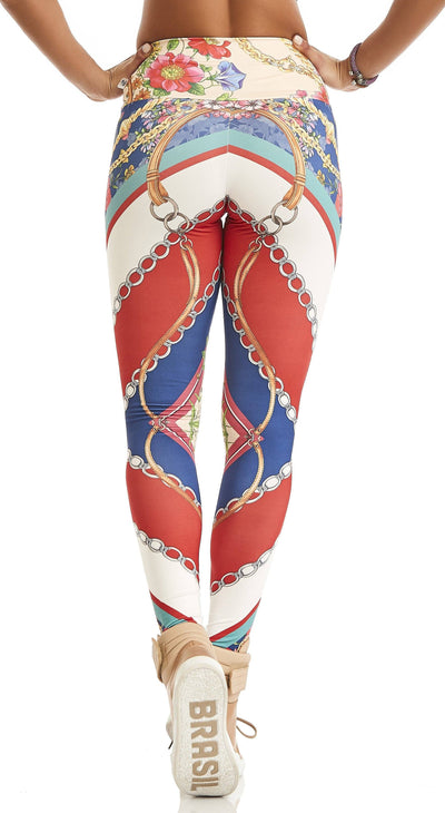 Brazilian Workout Leggings - Gucci Floral Print