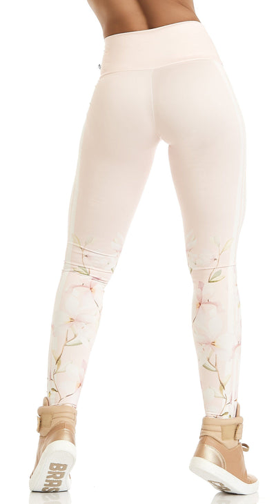 Brazilian Workout Leggings - Fabulous Flower Print