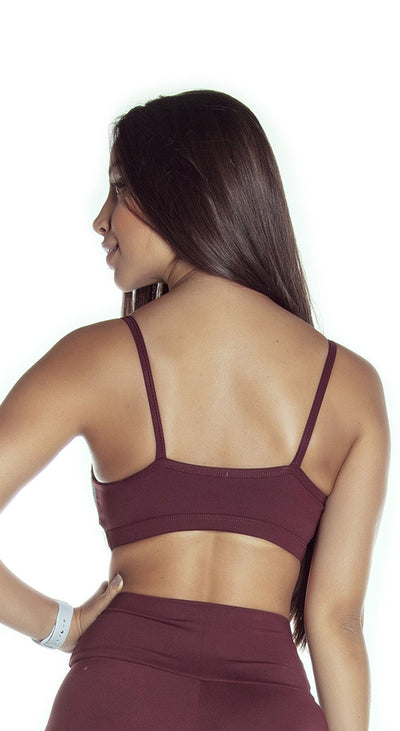 Sports Bra - NZ Leather Bordo