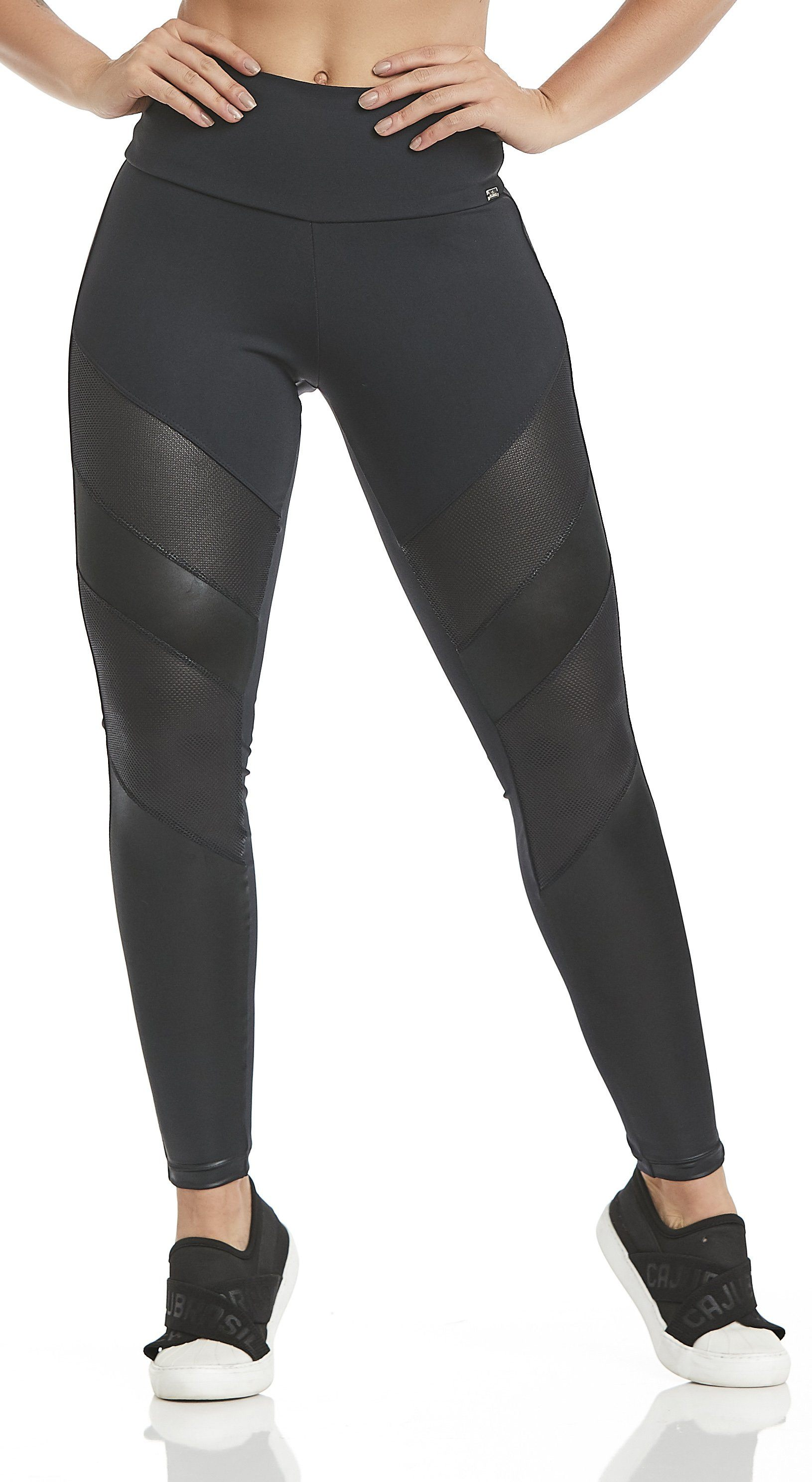Brazilian Legging - High Waist NZ Leather Black