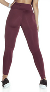 Brazilian Legging - High Waist NZ Leather Bordo