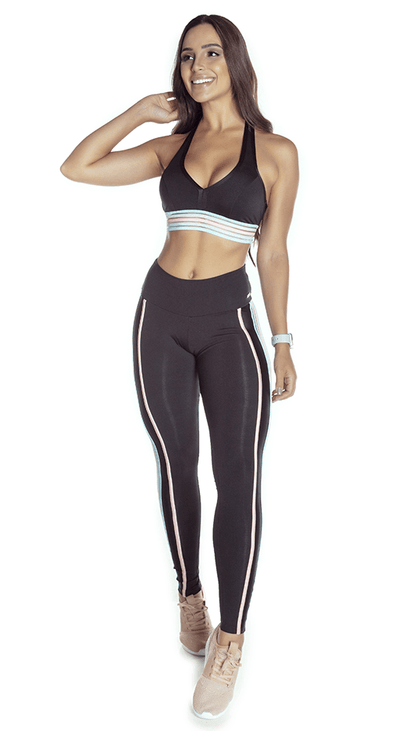 Brazilian workout Legging - Emana Magical Black