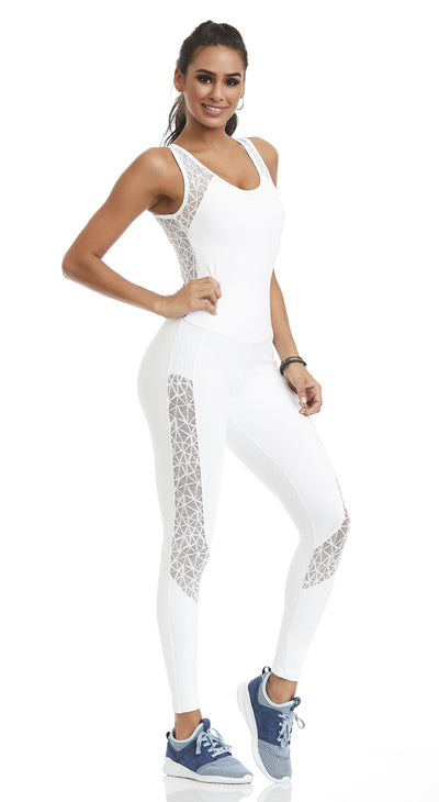 Brazilian Workout Jumpsuit - NZ Nice White