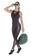 Brazilian Workout Jumpsuit - Emana Inspire Black