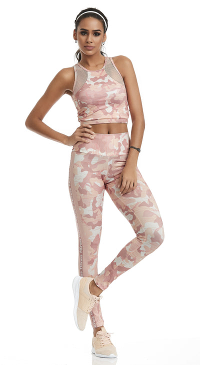 Workout Legging Army Pink Print