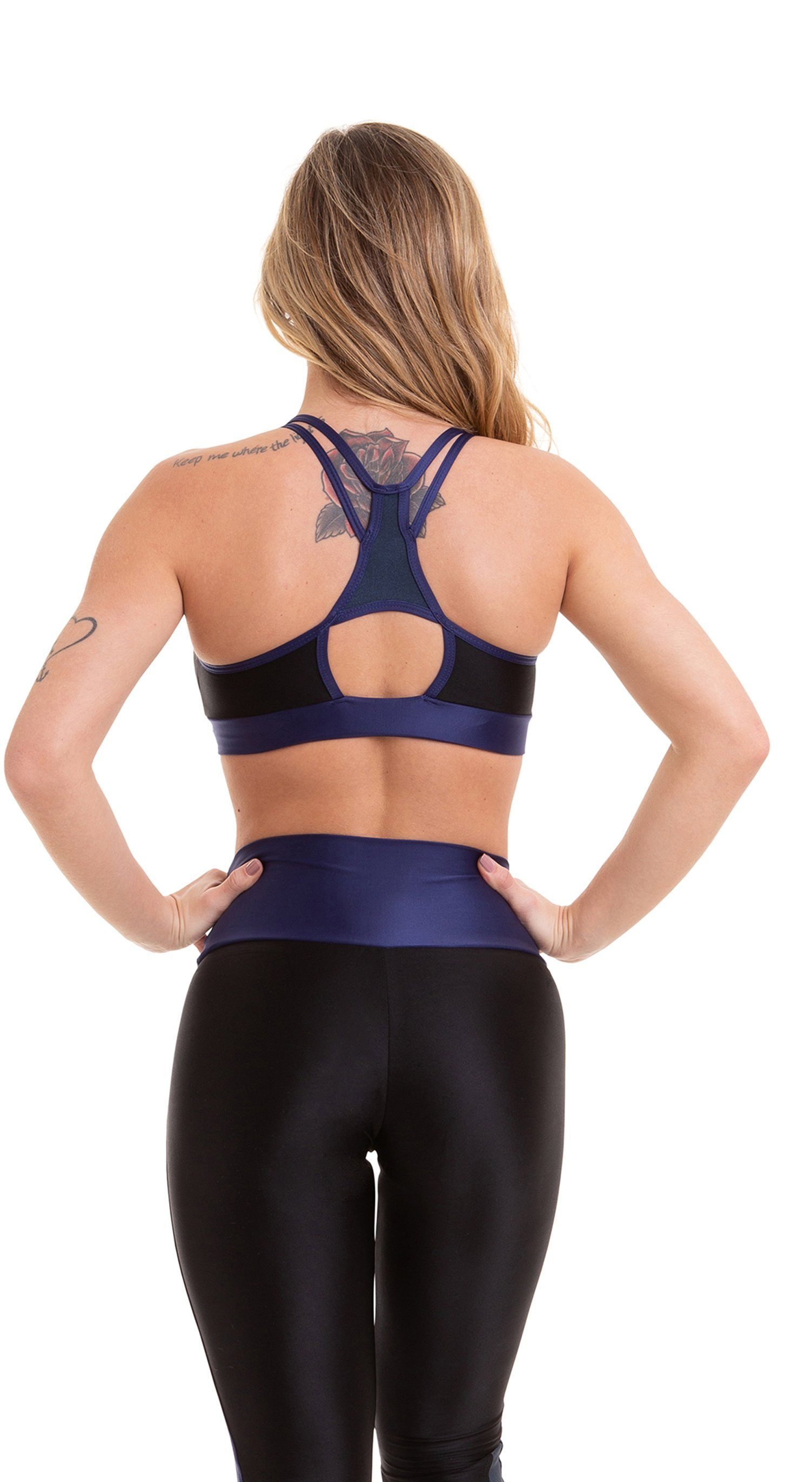 Active Sports Bra - Top Atletika Prime Blue & Black
