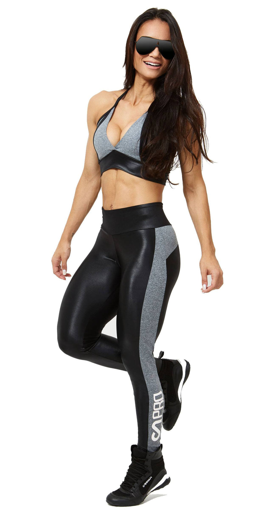 Brazilian Sports Bra - Fusion Black & Gray