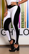 Brazilian Workout Legging - Scrunch Booty Scale Legging Black & White
