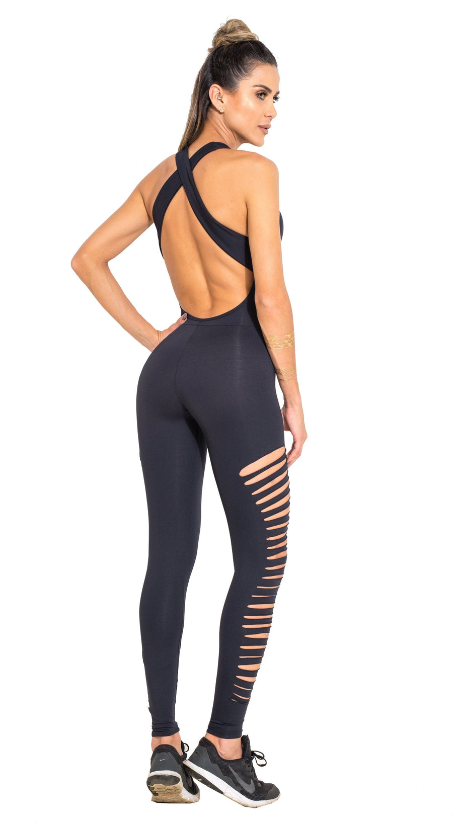 Brazilian Workout Jumpsuit  - Ripped Heroine Black