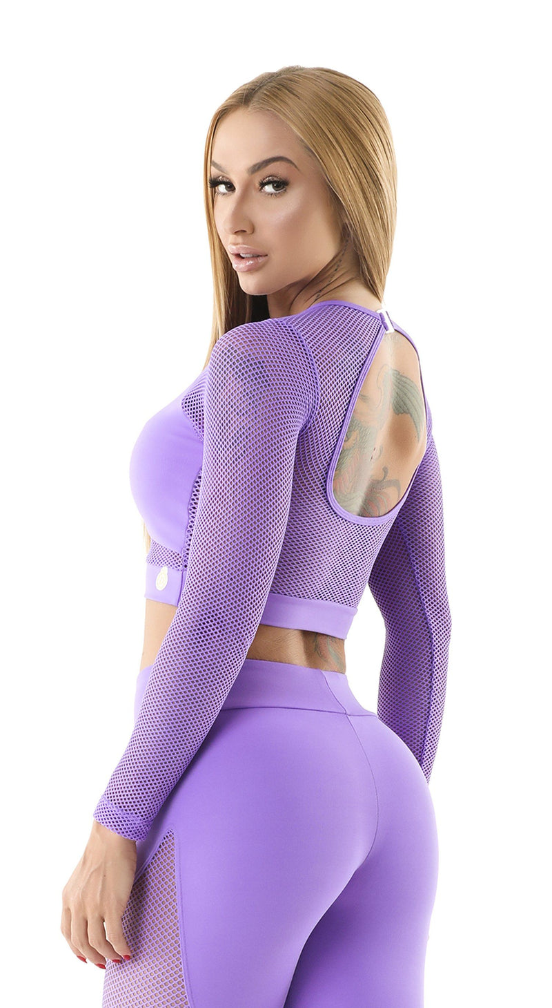 Brazilian Sports Top - Cropped Top Spot Purple