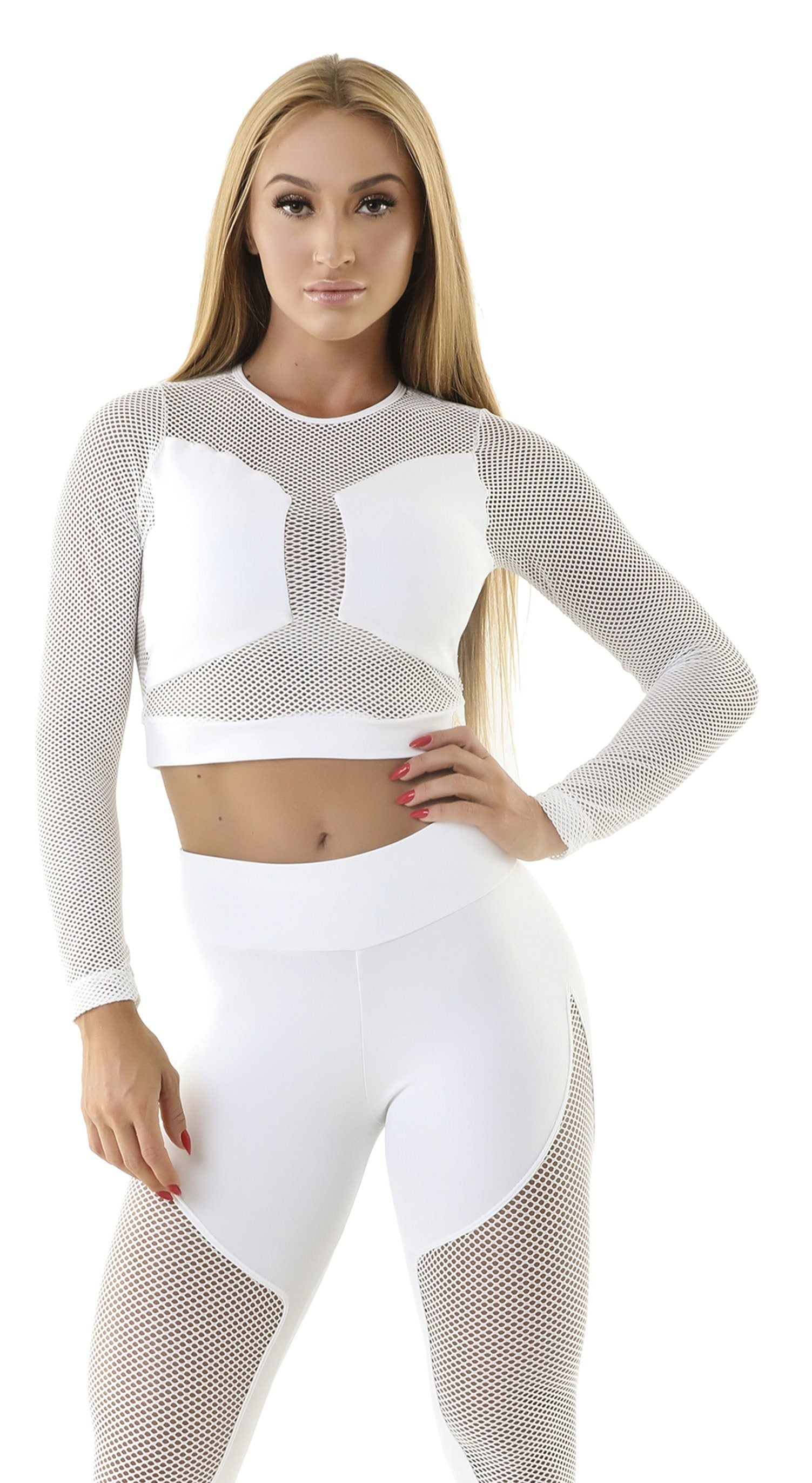 Brazilian Sports Top - Cropped Top Spot White