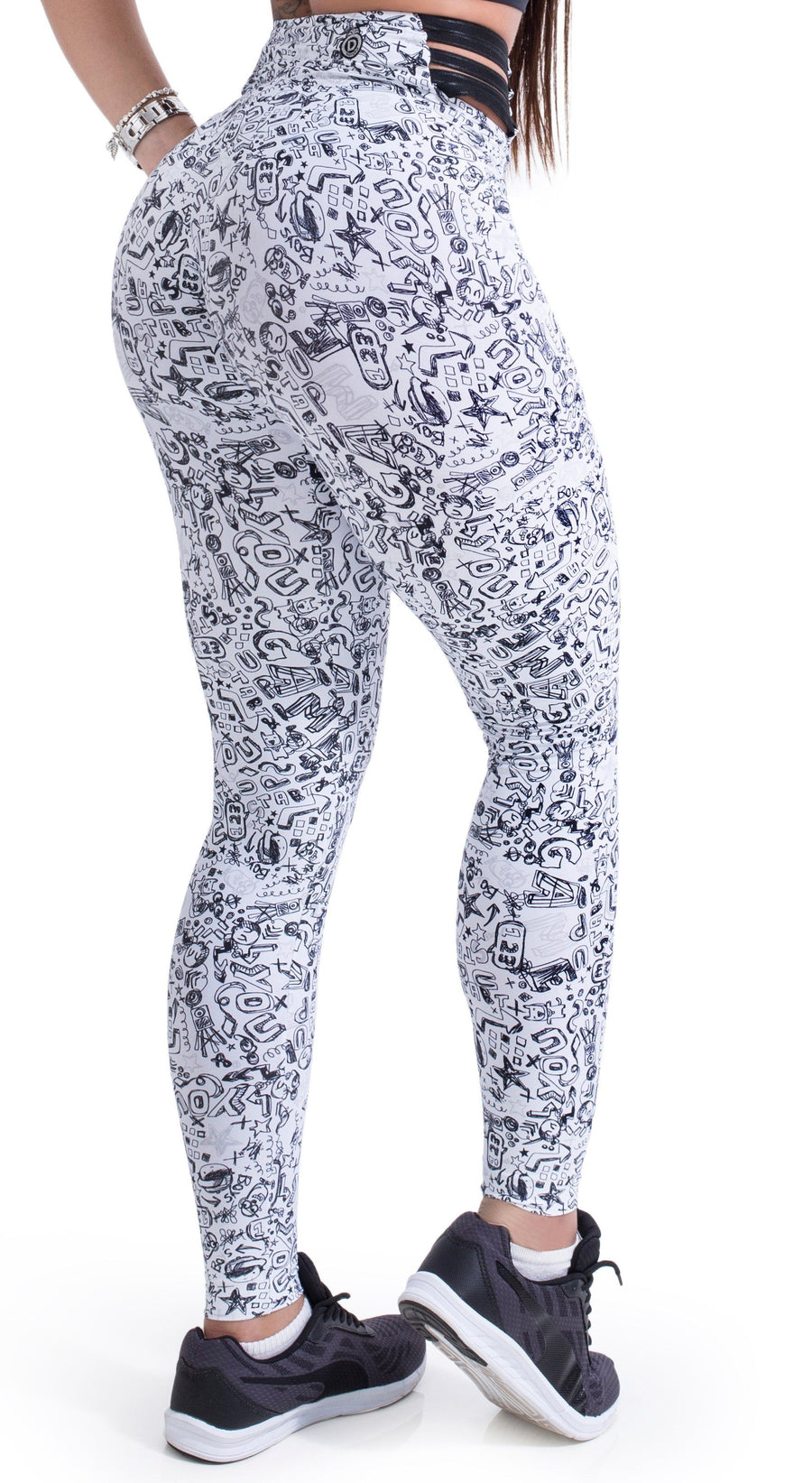 Workout Legging -  Strappy Fun Print