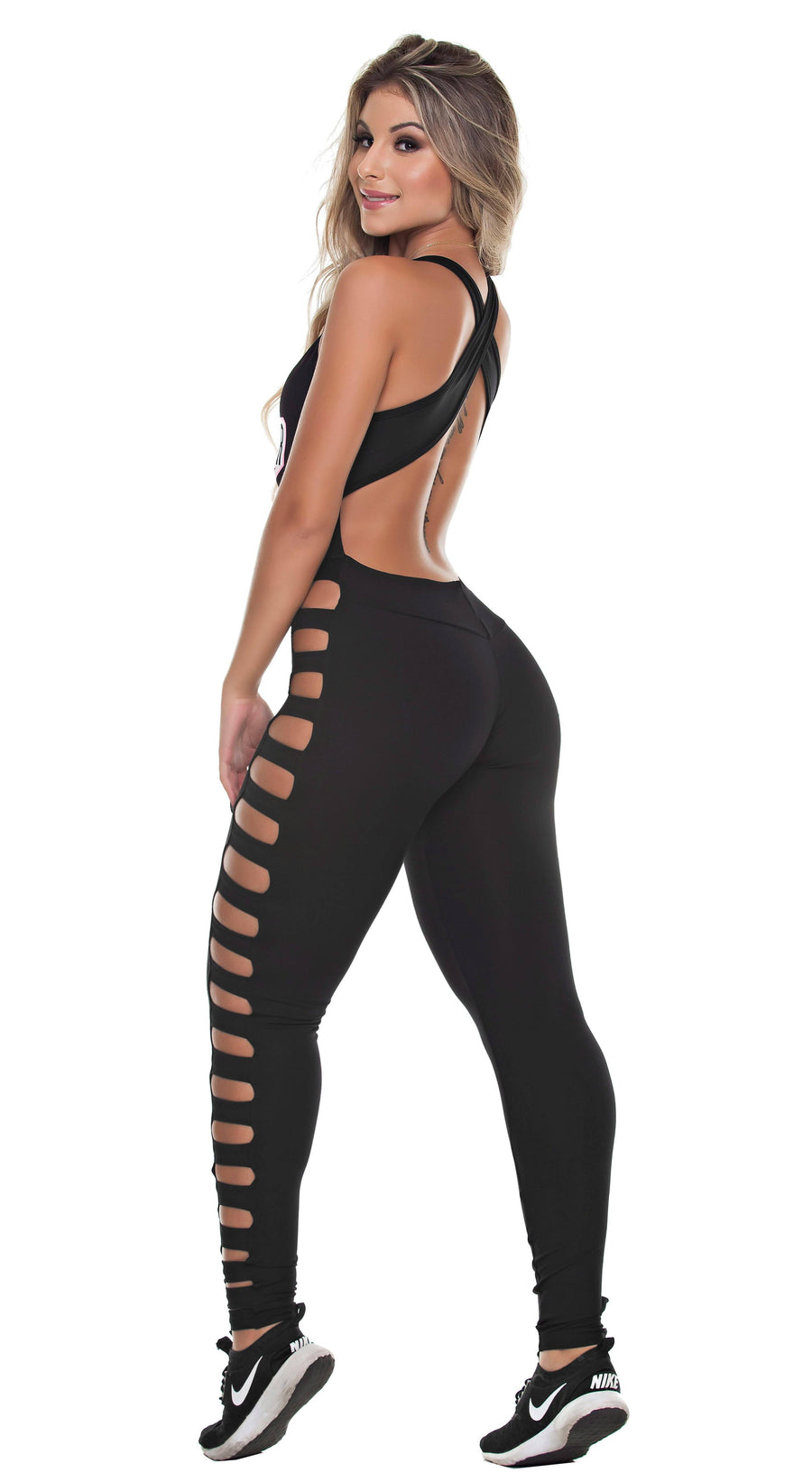 Brazilian Workout Jumpsuit -  Power Black
