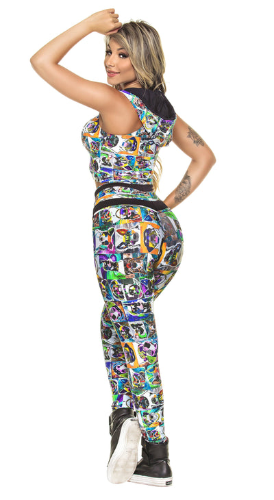 Brazilian Workout Legging - High Waist Dog Fit Print