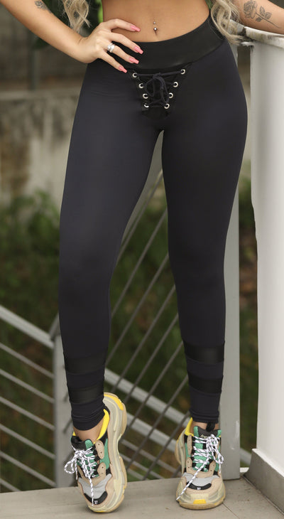 Workout Legging - Tie Drift Legging Black
