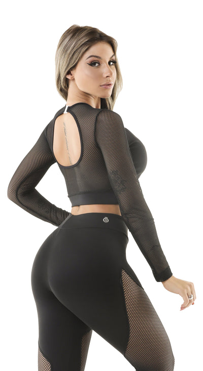 Brazilian Sports Top - Cropped Top Spot Black