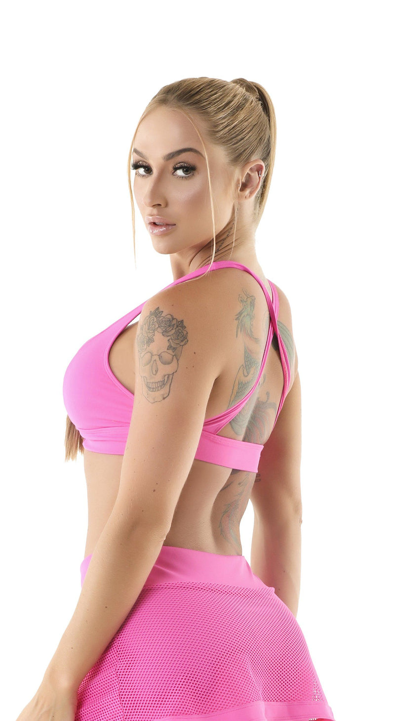 Brazilian Sports Top - Candy Pink