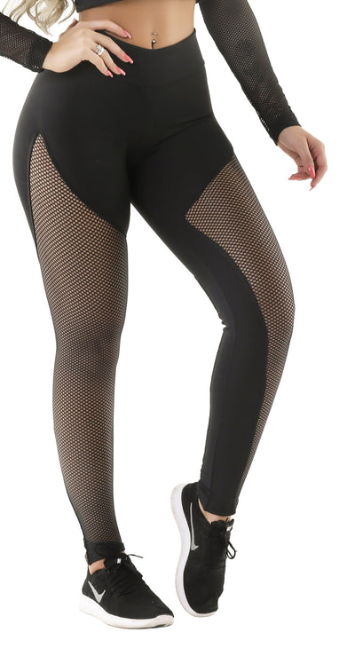 Workout Legging - Spot Black
